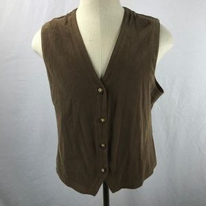 ORVIS Vest Large Brown Polyester
